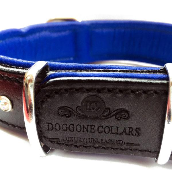 Heartbreaker Dog Collar Blue Logo