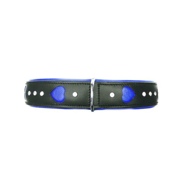 Heartbreaker Dog Collar Blue 2