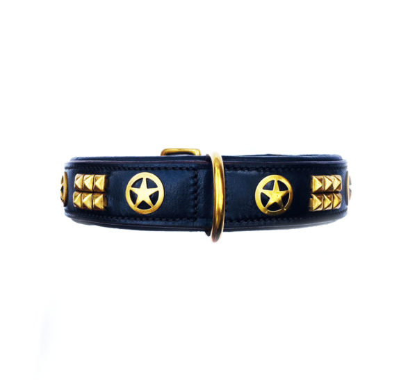 Sheriff Dog Collar Black Front